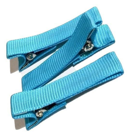 "Turquoise blue partially lined alligator clips 1.8"" - MAE Inspirations"