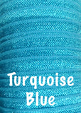 "Turquoise blue 5/8"" fold over elastic FOE - MAE Inspirations"