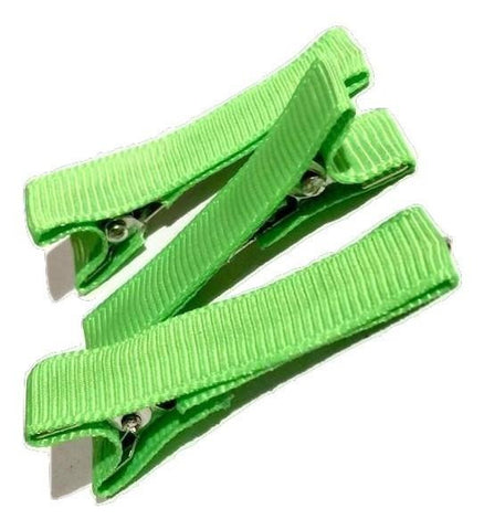 "Lime green partially lined alligator clips 1.8"" - MAE Inspirations"