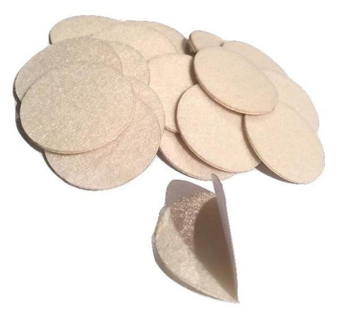 "1.5"" ivory ADHESIVE felt circles / 10-25 pieces - MAE Inspirations"