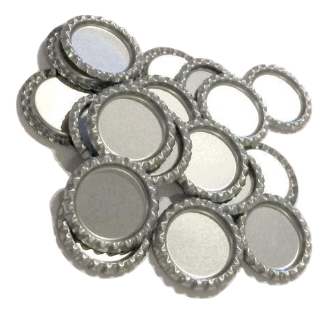Silver flattened bottle caps - MAE Inspirations