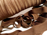 "Chocolate brown 5/8"" fold over elastic FOE - MAE Inspirations"