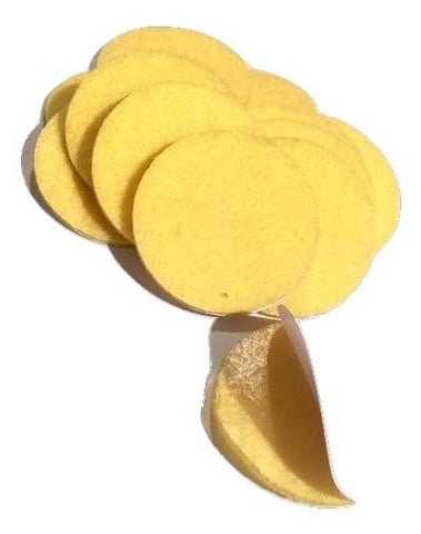 "1.5"" yellow ADHESIVE felt circles / 10-25 pieces - MAE Inspirations"
