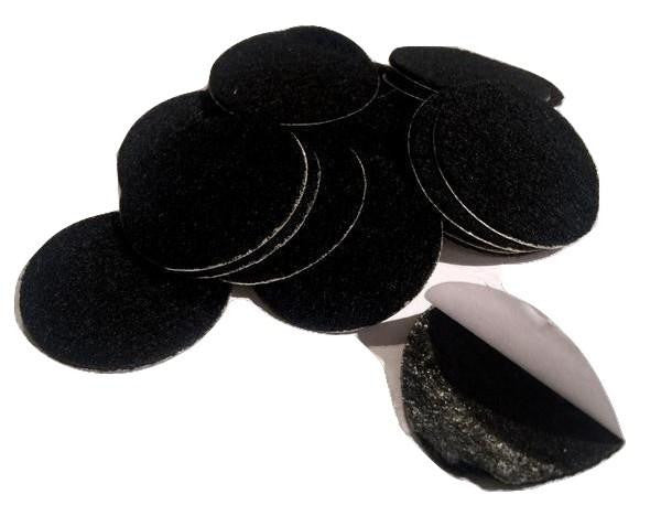 "1.5"" black ADHESIVE felt circles / 10-25 pieces - MAE Inspirations"