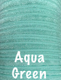 "Aqua green 5/8"" fold over elastic FOE - MAE Inspirations"