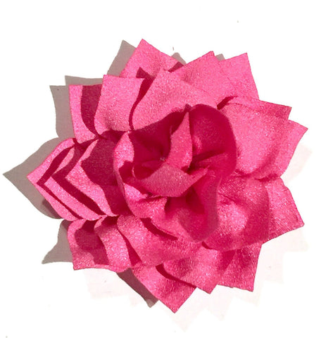 "Hot pink 3"" poinsettia fabric flower - MAE Inspirations"