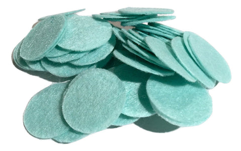 "1"" aqua blue felt circles / 25-50 pieces - MAE Inspirations"