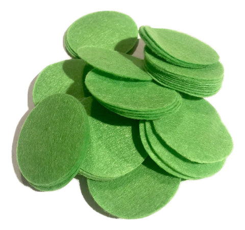 "1.5"" lime green felt circles / 25-50 pieces - MAE Inspirations"