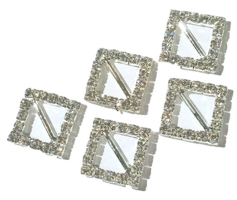 16mm square rhinestone ribbon sliders - MAE Inspirations