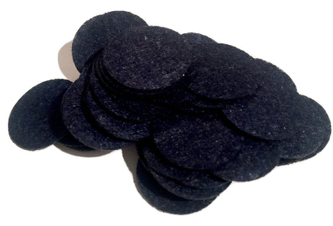 "1"" black felt circles / 25-50 pieces - MAE Inspirations"