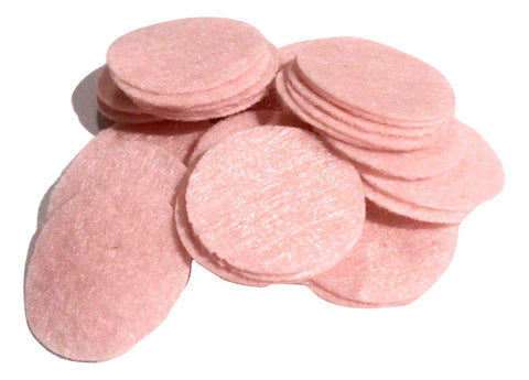 "1"" light pink felt circles / 25-50 pieces - MAE Inspirations"