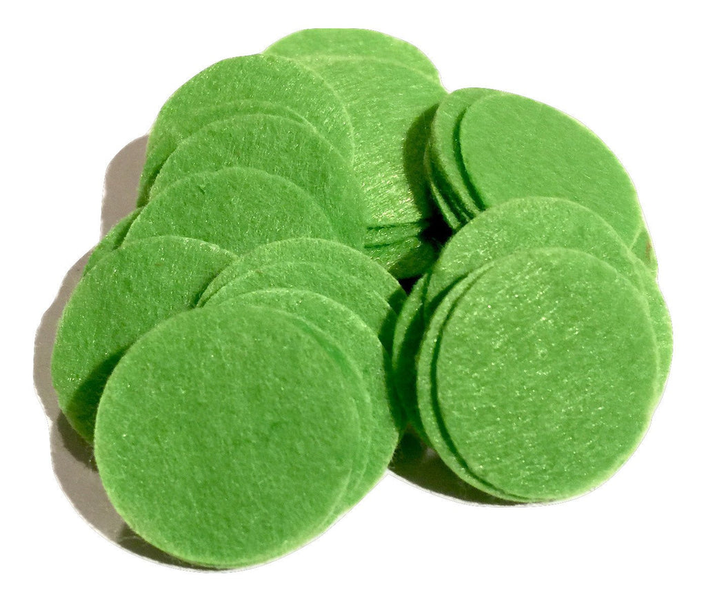 "1"" lime green felt circles / 25-50 pieces - MAE Inspirations"