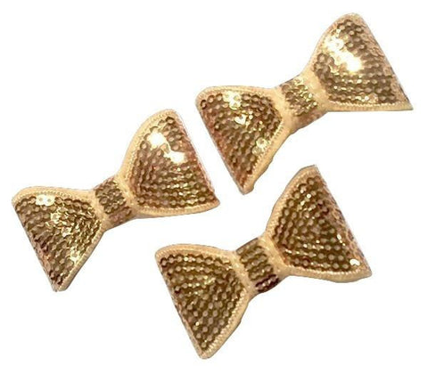 "Gold 2"" sequin bow tie / 1-3 pieces"