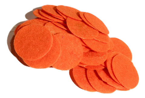 "1"" orange felt circles / 25-50 pieces - MAE Inspirations"