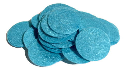 "1"" turquoise blue felt circles / 25-50 pieces - MAE Inspirations"