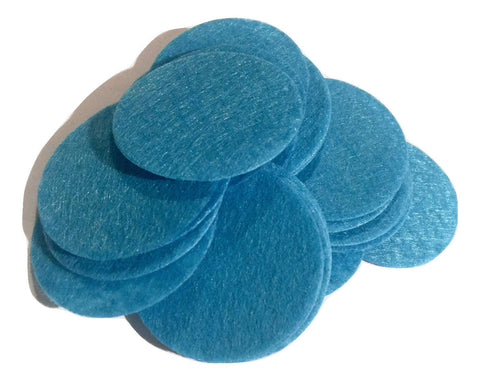 "1.5"" turquoise blue felt circles / 25-50 pieces - MAE Inspirations"