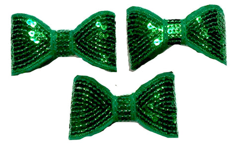 "Emerald green 2"" sequin bow tie / 1-3 pieces - MAE Inspirations"