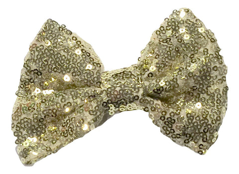 "Gold large 5"" sequin fabric bows - MAE Inspirations"