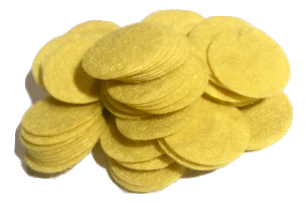 "1"" yellow felt circles / 25-50 pieces - MAE Inspirations"