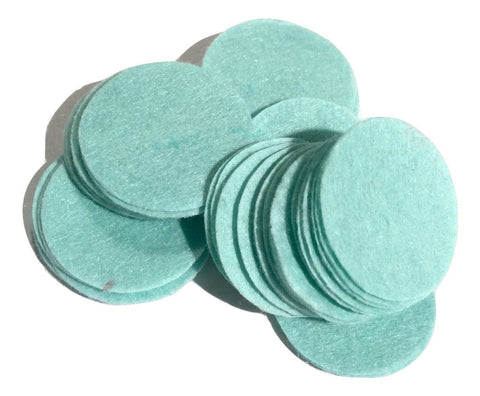 "1.5"" aqua blue felt circles / 25-50 pieces - MAE Inspirations"
