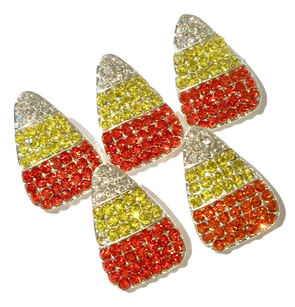 24x16mm Halloween candy corn ribbon sliders rhinestones - MAE Inspirations