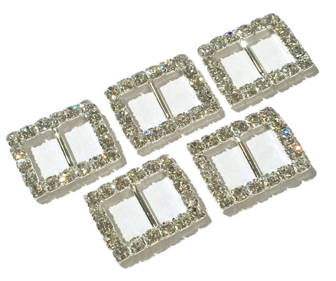 22x16mm rectangle rhinestone ribbon sliders - MAE Inspirations