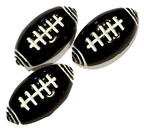Football resin cabochon 16x30mm / 1-5 pieces - MAE Inspirations
