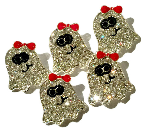 22x20mm Halloween ghost ribbon sliders rhinestones - MAE Inspirations