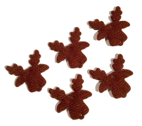 Brown reindeer Christmas padded felt appliqués - MAE Inspirations