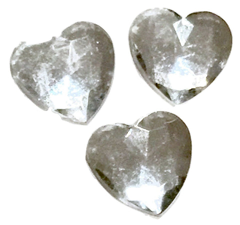 Clear heart acrylic rhinestone resin 12x12mm / 1-10 pieces - MAE Inspirations