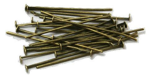 22mm bronze head pins / 5-25 pieces - MAE Inspirations