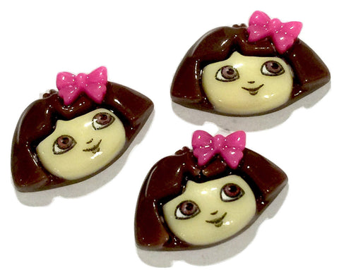 Dora w/ bow resin cabochon 18x14mm / 1-5 pieces - MAE Inspirations