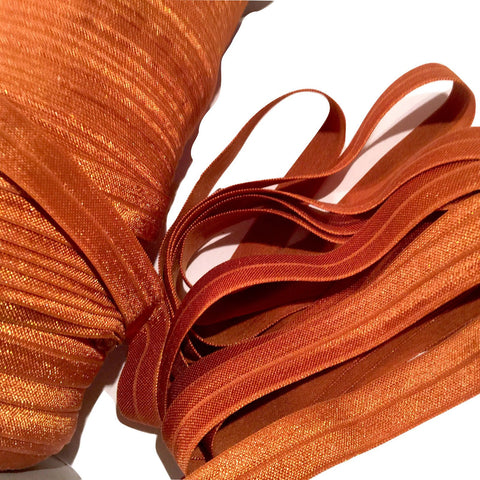 "Copper 5/8"" fold over elastic FOE"