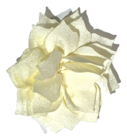 "Ivory 3"" poinsettia fabric flower - MAE Inspirations"