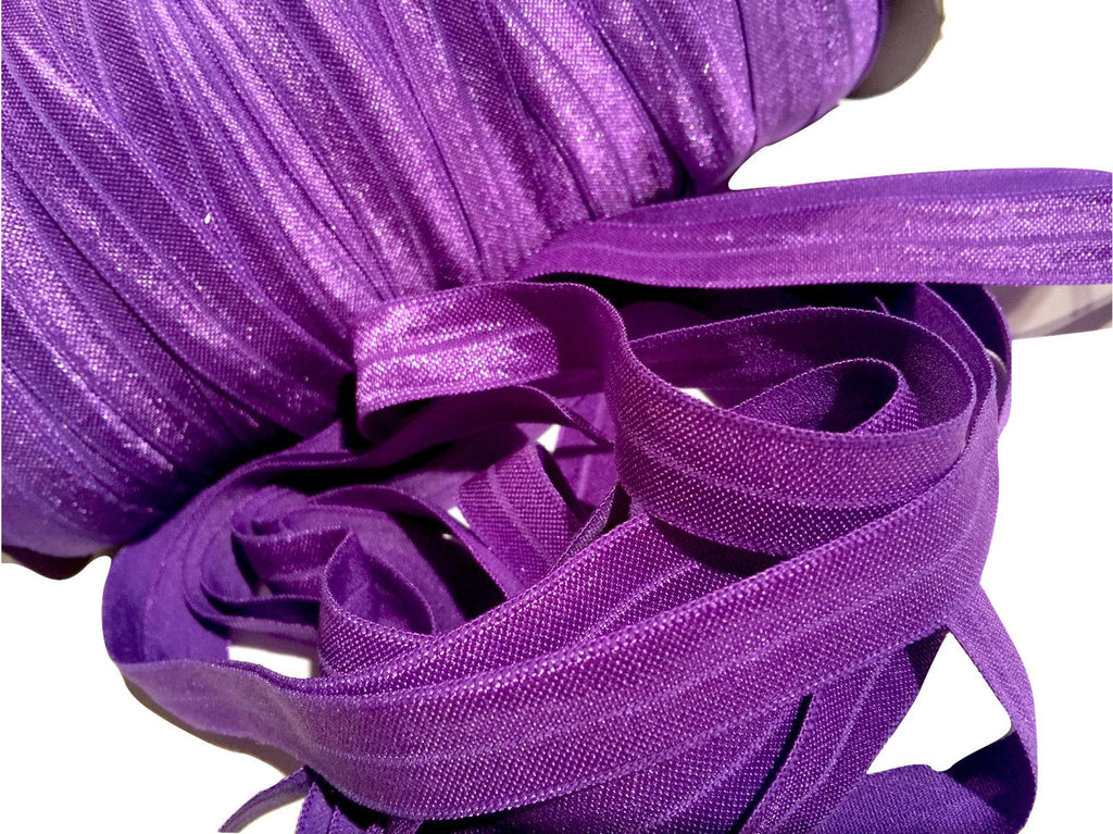 "Purple 5/8"" fold over elastic FOE - MAE Inspirations"
