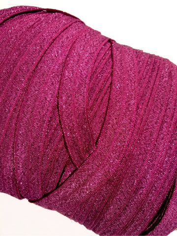 "Purple 5/8"" metallic FOE Fold over elastic - MAE Inspirations"