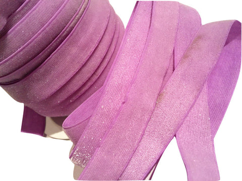 "Lavender 5/8"" frosted glitter elastic - MAE Inspirations"