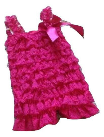 Hot pink lace baby romper - MAE Inspirations