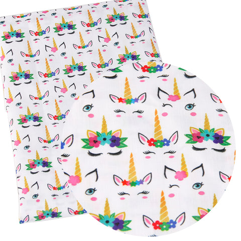 1/2 meter cotton fabric / unicorn dog butterfly / 7 print options - MAE Inspirations