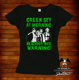 Burbs T-Shirt Green Sky
