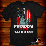 Retro T-shirt Freedom Rock commercial 80s 90s USA Up All Night