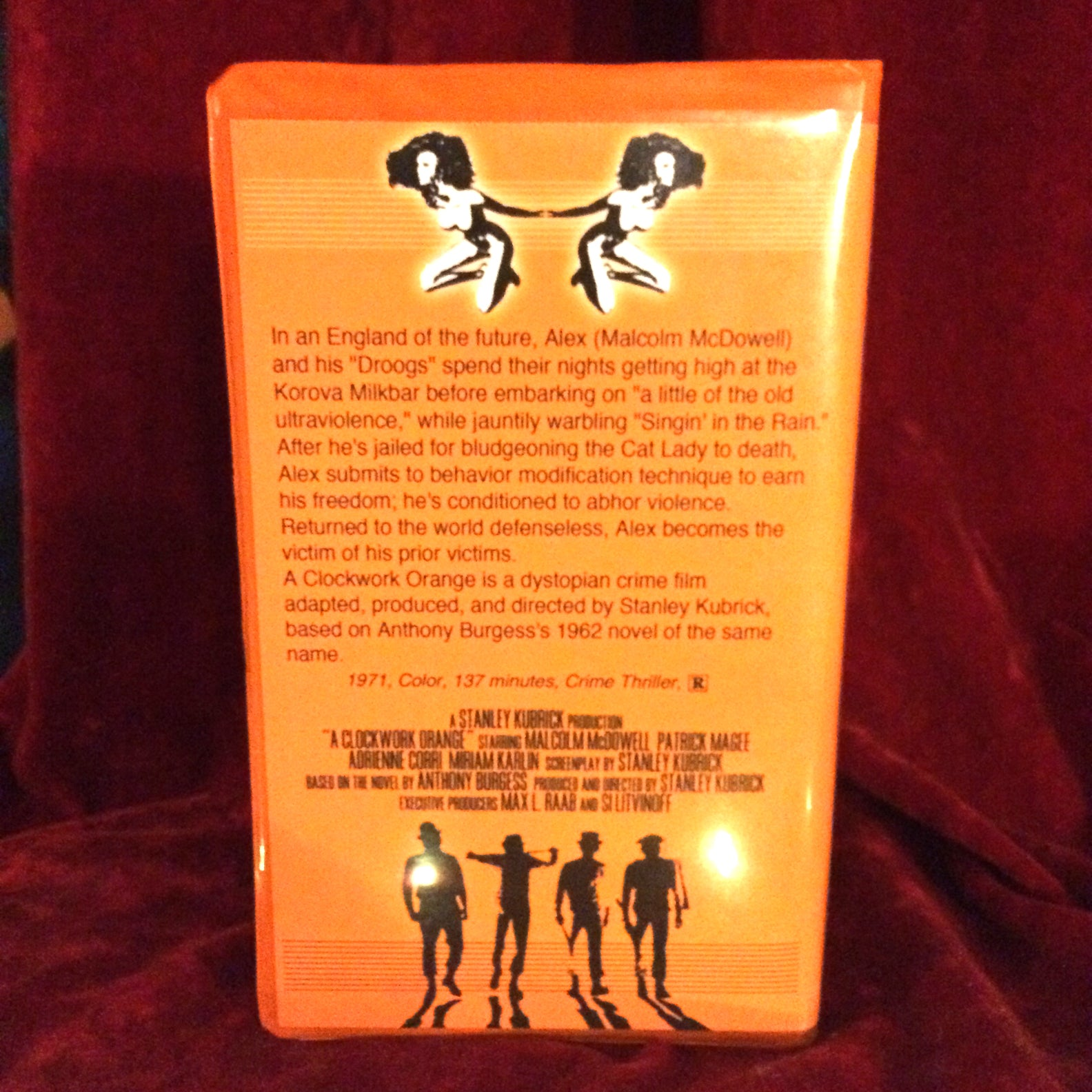A Clockwork Orange VHS Tape + Custom Artwork Clamshell Case Big Box