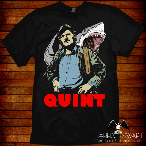 "Jaws T-shirt ""Quint"" based on the classic 1975 movie"