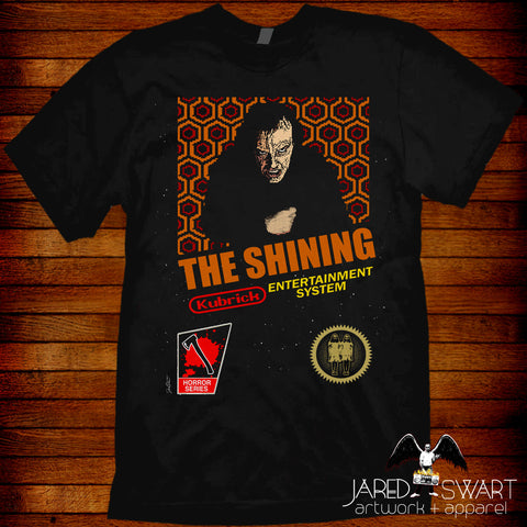 The Shining T-shirt NES mash-up