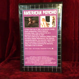 American Psycho VHS Tape + Custom Artwork Clamshell Case Big Box