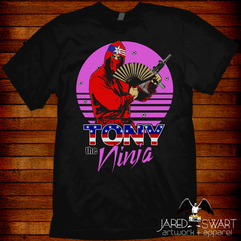 Clash of the Ninjas Tony the Ninja T-Shirt VHS Classics Series