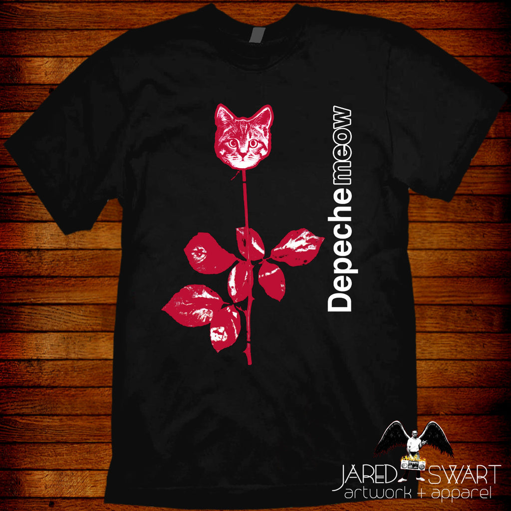 Depeche mode t-shirt cat