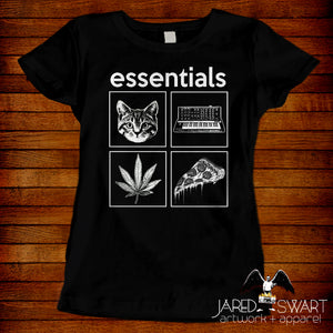 Essentials T-shirt Cats Cannabis Synthesizers Pizza
