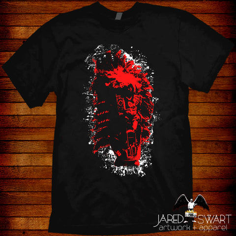 Mardi Gras Big Chief Indian Red T-shirt