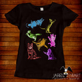 Kitty cat collage t-shirt